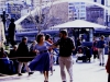 Margot Hitchcock & Ray Simpson giving a Cajun dance demonstration with local Cajun band Cajun Roux at the Boîte Winter Festival at Southgate in Melbourne, August 2000
