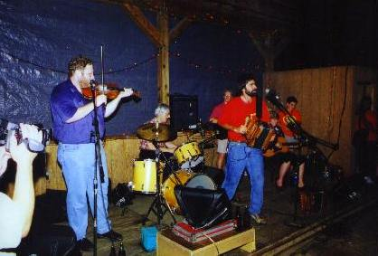 Paul Daigle & Kevin Wimmer on fiddle, Augusta